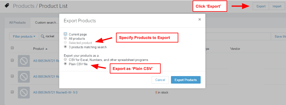 Exporting Your Inventory File With Shopify - Shopify csv template