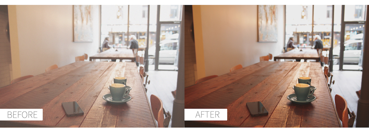 before and after photo edit